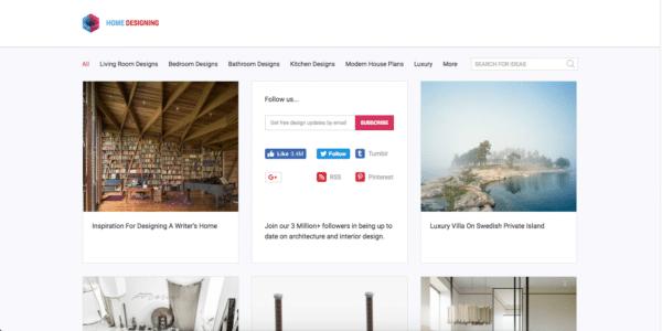 Exemple de site d'affilation Amazon : Home Design