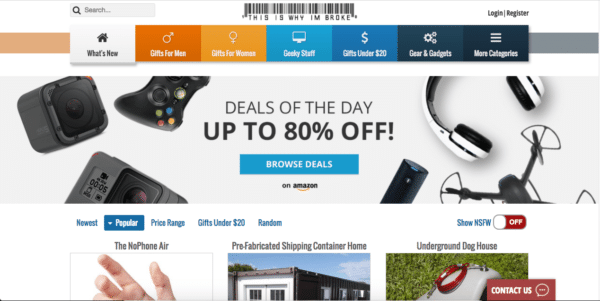 Exemple de site d'affiliation Amazon : This is why I'm broke.
