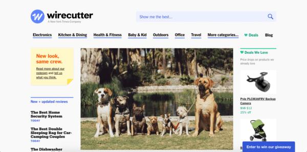 Wirecutter site internet d'affiliation Amazon