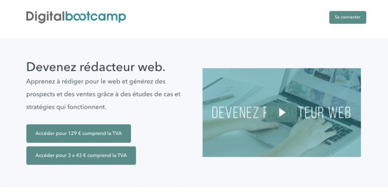 digital bootcamp formation devenez rédacteur web