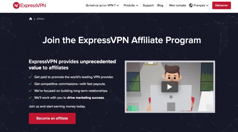 programme affiliation expressvpn