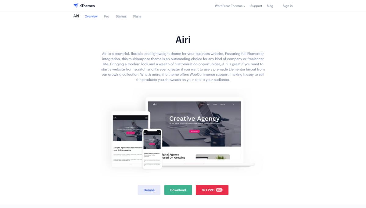 Airi thème WordPress template