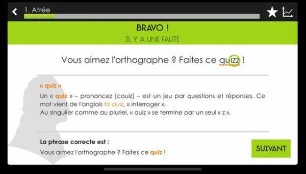Exercice pour améliorer votre orthographe avec le Projet Voltaire